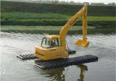 水陆挖掘机出租作业废活景象频发怎么办?