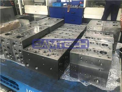 山東森特克廠家訂做電磁溢流閥 液壓油路塊 液壓油路板 閥塊