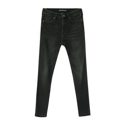 高腰小腳牛仔褲女款顯瘦修身百搭彈力緊身鉛筆褲工廠**牛仔褲女