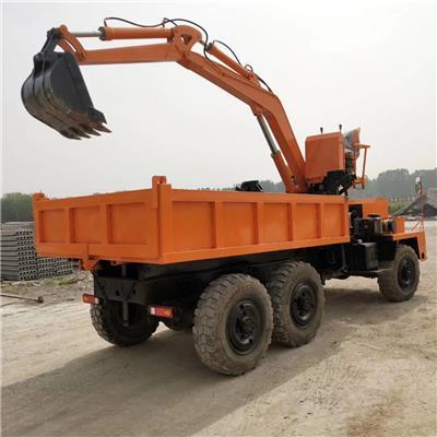 四不像四驅隨車挖掘機 農用隨車挖掘機 改裝自裝自卸挖掘機