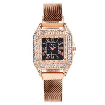 2019新品磁鐵帶網紅韓版簡約女式腕表學生**促銷便宜方形手表