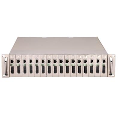火焰 16槽機架式收發器 集中式 16光交換機 監控網絡轉換器