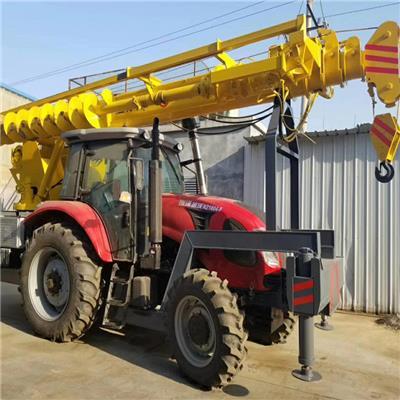 拖拉機吊車改裝 越野拖拉機吊車打樁一體機