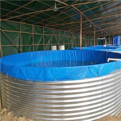 镀锌板帆布水池支架养殖帆布网箱支架刀刮布环保材料