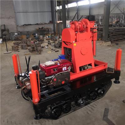 廠家**地質勘探履帶鉆機 橡膠履帶底盤水井鉆機 高速工程鉆機
