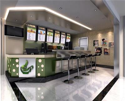 杭州小型的奶茶店装修设计公司 杭州负责任的*市装潢设计公司