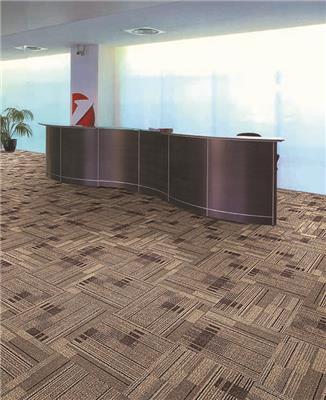 办公室用尼龙 会议室客厅阻燃地毯过消防垫B1级方块拼接地垫