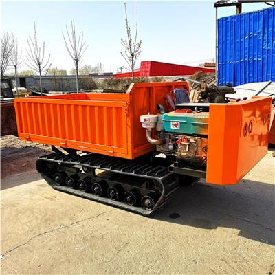 6噸工程箱式履帶運輸車 山區泥濘路貨物搬運車 液壓自卸履帶車