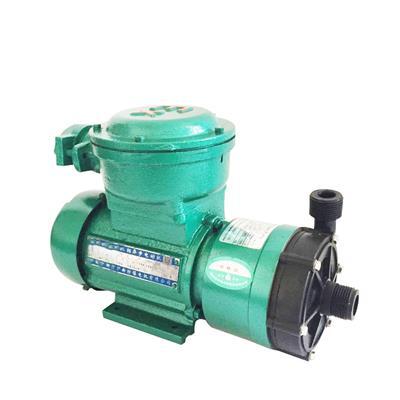 廠銷 聚四氟乙烯防爆磁力泵 耐酸堿150W小型離心泵 水循環臥式泵