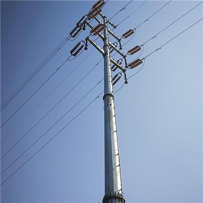 新乡市架空线电力钢杆双回路15米电力钢杆