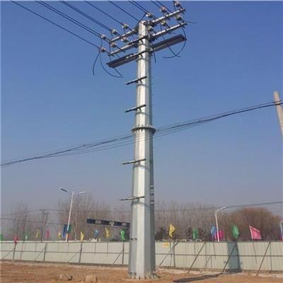 新乡市60度转角电力钢杆架空线输电12米电力钢杆