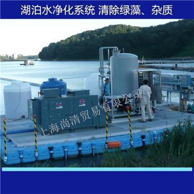 韓國技術 為泡沫 湖泊水等水質改善除綠藻清除雜質系統設備