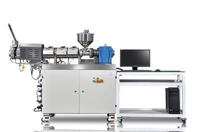 廣州普同過濾壓力值測試儀 色母過濾壓力值實驗機 色母分散性綜合測試儀CMOM-60一款集過濾壓力值測試以及吹膜 流延膜樣制備等多種功能于一體的組合式實驗裝備