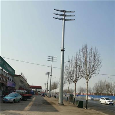 濟寧市鋼管桿廠家供應雙回路直線電線桿