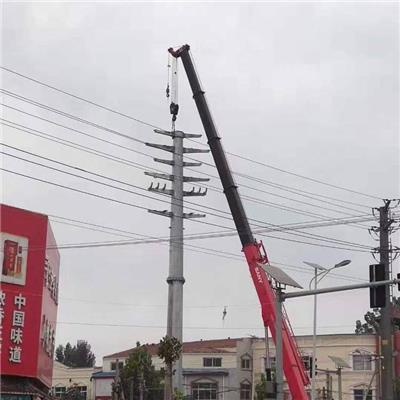 新乡市单回路30度转角钢杆热镀锌电力钢杆基础