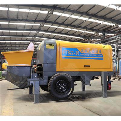 廠家**20拖泵 大骨料顆粒砂漿混凝土輸送泵 遠程澆筑泵