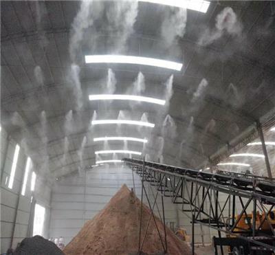 攪拌站噴霧除塵設備 寶豐高壓噴霧降塵設備 感應