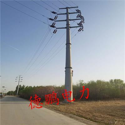 江苏10kv 电力电力钢管塔35kv 电力钢管杆