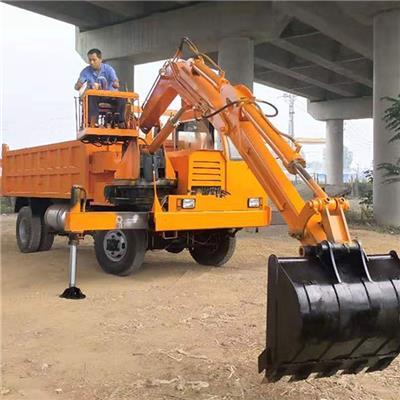 農用隨車挖建筑工地輪式隨車挖礦山挖土拉沙機械