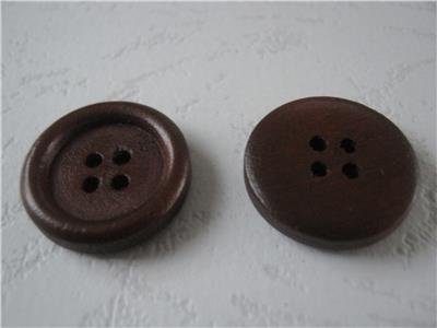 供应木纽扣20mm圆木扣服装扣包袋扣定做