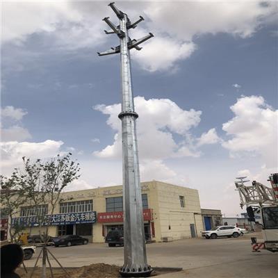 新乡市10千伏电力钢杆基础打桩Q345桩基础价格