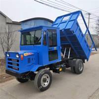新型低矮型礦用運輸車 柴油機四不像自卸車 四驅動力翻斗搬運車