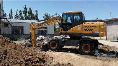 三山輪式挖掘機SH160W 16噸輪挖
