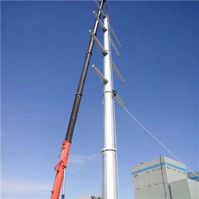 棗莊市35KV雙回路電纜終端鋼桿 節約成本