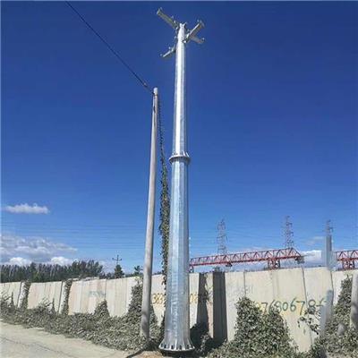 廣元市高壓線路直線型鋼管桿金屬電力鋼桿廠家
