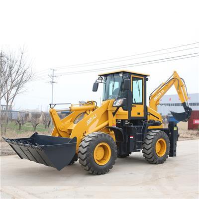 青島微型兩頭忙定制 微型挖掘裝載機 小型輪式挖掘裝載機價格