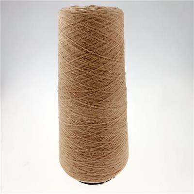 厂家** 18NM全涤雪尼尔咖色 纱线批发 专门定制各种花式纱