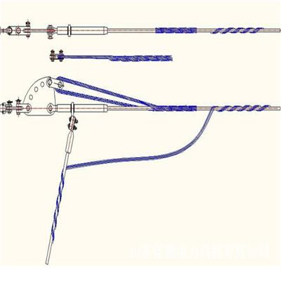 導線安全備份線夾型號圖片架空備份線夾預絞式架空金具