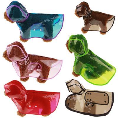 TINGHAO 宠物透明雨衣 狗狗雨衣 泰迪两脚雨衣 8个颜色 5个规格