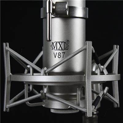 美國MXL V87大振膜電容麥克風話筒K歌*錄音網絡K歌主播直播套
