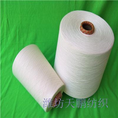 宁波涤粘混纺竹节纱26支 平均纱支 常年生产