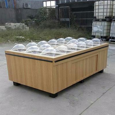*市醬菜盒木質醬菜展示柜五谷雜糧貨架木制腌臘柜大米糧油展示柜