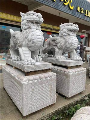 石狮子 石雕狮子的镇宅作用 汉白玉石狮子价格