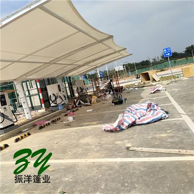 深圳户外膜结构车棚施工安装