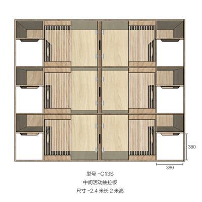 摩根+猫寄养柜笼子宠物柜定制实木多层板活动抽拉板别墅猫舍展示柜