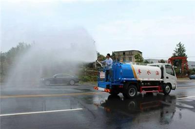 杭州拱康路出租多功能灑水車拆舊除塵工地運水降塵路面清洗
