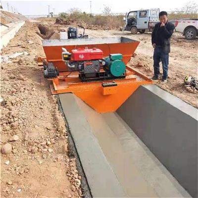 工程水渠成型機 供應渠道襯砌機 邊溝機 渠道自走成型機廠家定制