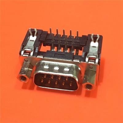 09651626813連接器DB9公頭彎針Harting浩亭D-Sub連接器9路公插直角主體通孔安裝2.74mm節距焊接