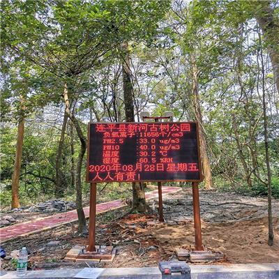 福建AAAAA森林公園 24小時在線式負氧離子監測系統