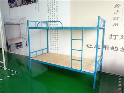 郴州雙人鐵床永固藍色方管鐵床批發