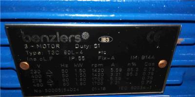 印度Benzlers減速電機
