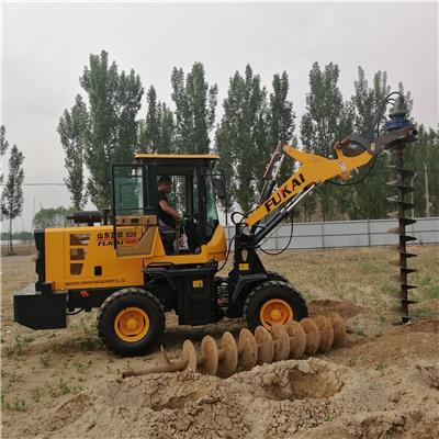 裝載機改裝打坑設備 鏟車打坑設備