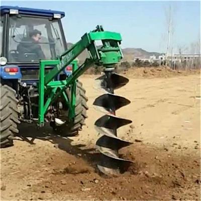 拖拉機帶打坑機加長鉆頭挖坑機植樹打洞機