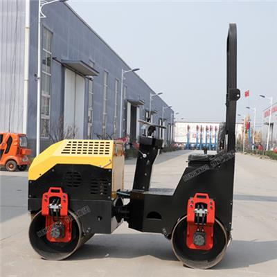 2噸全液壓雙輪驅動雙鋼輪座駕式振動震動恒旺小型壓路機