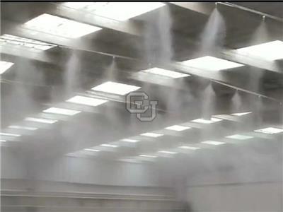 福州人造霧廠家康催紐CU廠房噴霧降溫設備