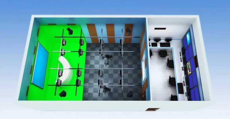 4k真三維校園電視臺系統搭建 學校攝影影視實訓室